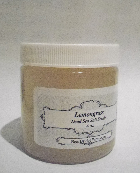 Dead Sea Salt Scrub, Lemongrass