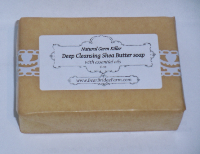 Deep Cleansing Shea Butter Soap, with essential oils, 1 bar